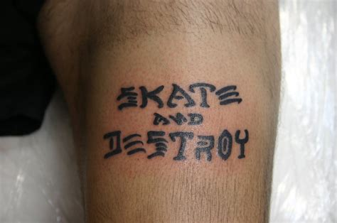 skate and destroy tattoo skate and destroy by hotflametattoo pt on deviantart