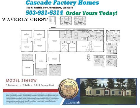 3 Bedroom Mobile Home Floor Plans 28683w waverly crest floor plan