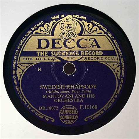 mantovani swedish rhapsody mantovani and his orchestra swedish rhapsody jamaican