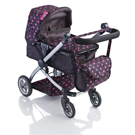 black doll stroller molly dolly 2 in 1 deluxe babyboo doll stroller pram buggy