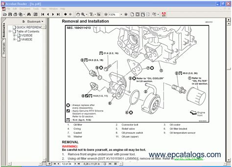 motor repair manual 2003 infiniti qx spare parts catalogs infinity r50 series qx4 service manual