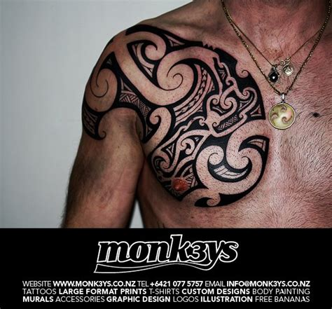 nz chest plate 1 by monk3ys tattoos on deviantart