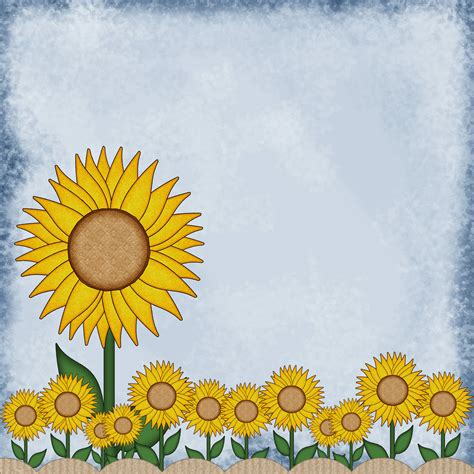 Sunflower With Paper - enchanted s digital scrapbook library free