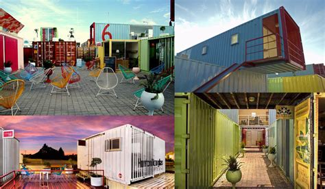 chic eco friendly shipping container cities popping up
