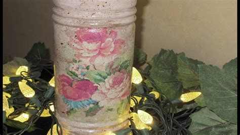 How To Decoupage A Vase - how to decoupage with wrapping paper vintage vase