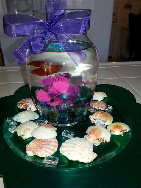 centerpiece for little mermaid birthday giselles