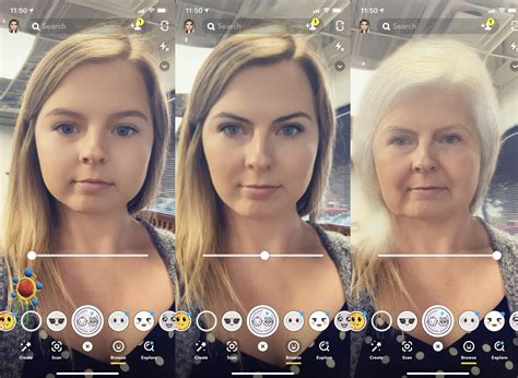 snapchats time machine ar lens creepily shows  youll