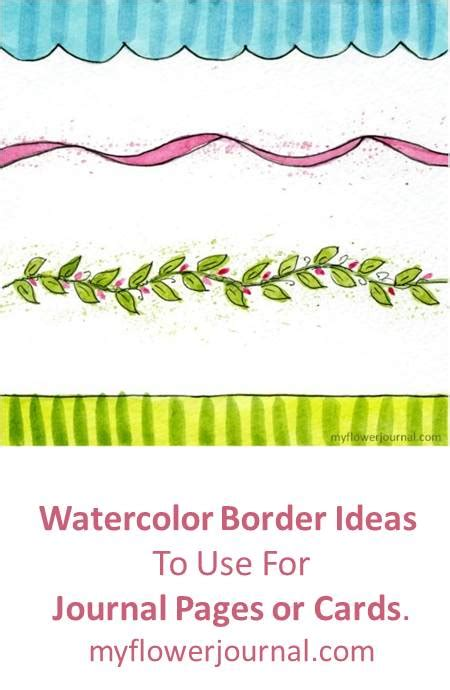 What To Do With Borders Gift Card - journal page border ideas my flower journal