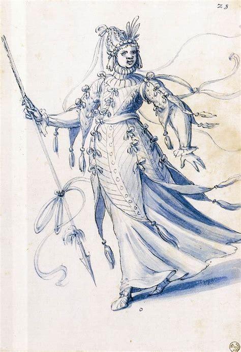 drawing of a file giuseppe arcimboldo costume drawing of a bearing a lance wga00895 jpg