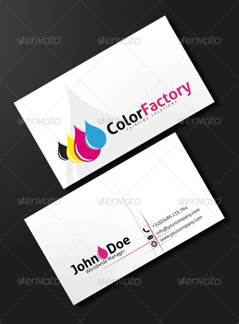 Business Card Template For Printing Press by Ink Power Print Business Card Graphicriver