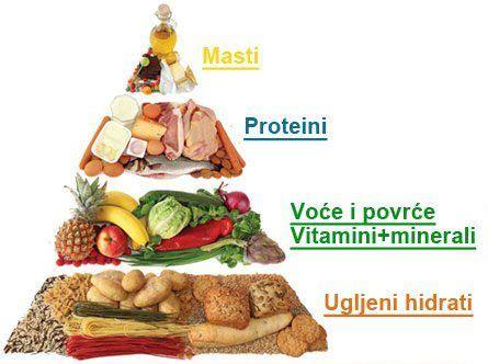 u proteini proteini ugljeni hidrati i piramida ishrane hrana i