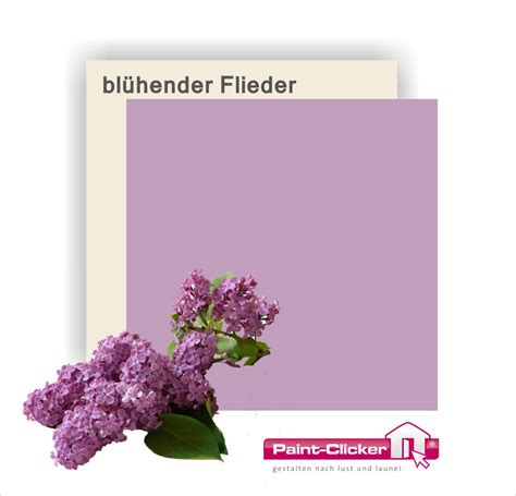 Farbton Flieder by Paint Clicker Shop Wandfarbe Bl 252 Hender Flieder Paint