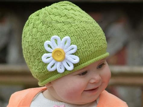 pattern for knitted flower for hat my daisy flower hat by tanya matsiuk craftsy