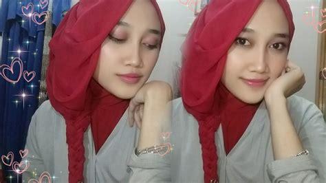 tutorial hijab layer pengantin tutorial hijab segiempat layer kepang untuk pesta