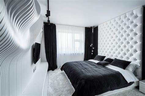 fascinating bedroom design ideas  white  black color theme decor ideas roohome
