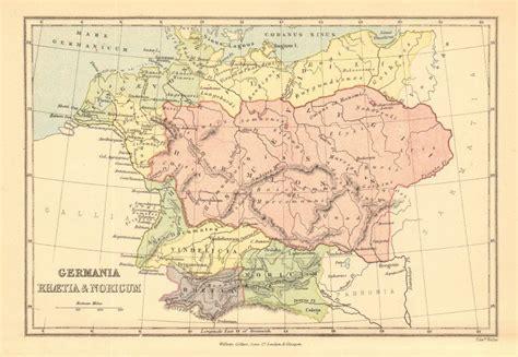 maps germania ancient germany germania rhaetia noricum