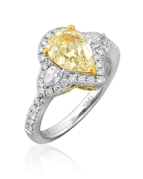 pear cut engagement rings martha stewart weddings