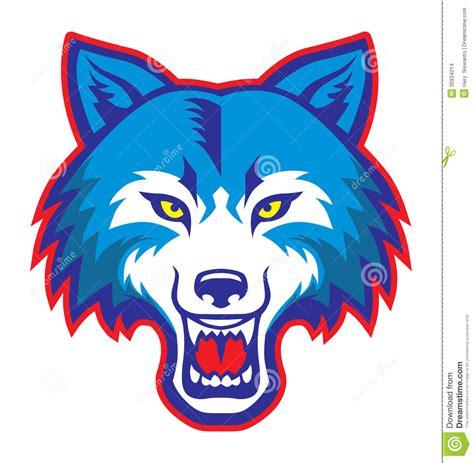Wolf Mascot Clipart wolf
