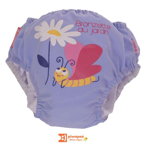 couche bebe piscine maillot de bain couche piscine b 233 b 233 nageur piwapee motif