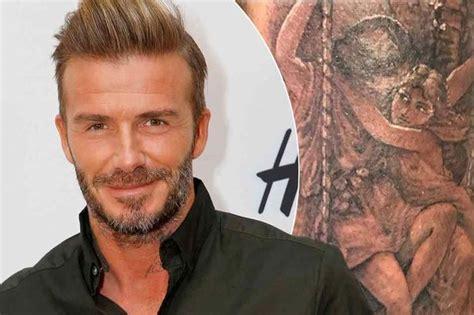 david beckham new tattoo david beckham shows sore new as he gets