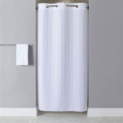 stainless steel shower curtain contemporary bathroom design with hookless white stall
