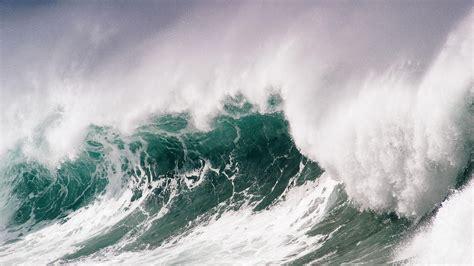 wallpaper  wave sea storm force