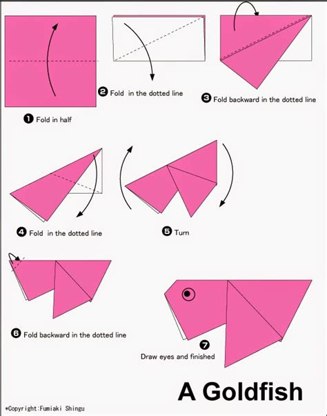 Easy Printable Origami - origami goldfish printable easy origami for