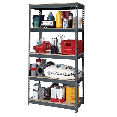 Rack Garage Organization Unit Edsal Maxi Rack 72 Quot H X 36 Quot W X 18 Quot D Steel Shelving Unit Tools