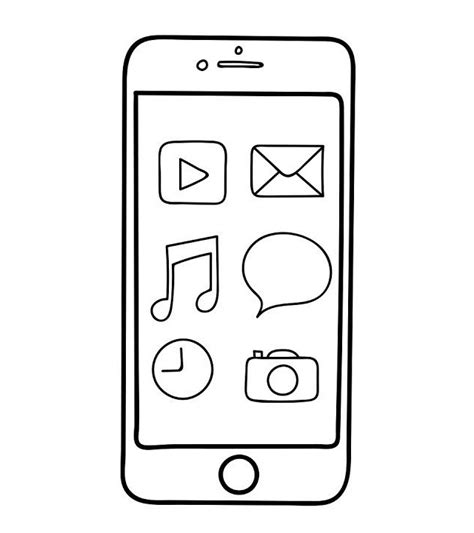 Iphone 7 Coloring Pages by Iphone Features Coloring Sheet