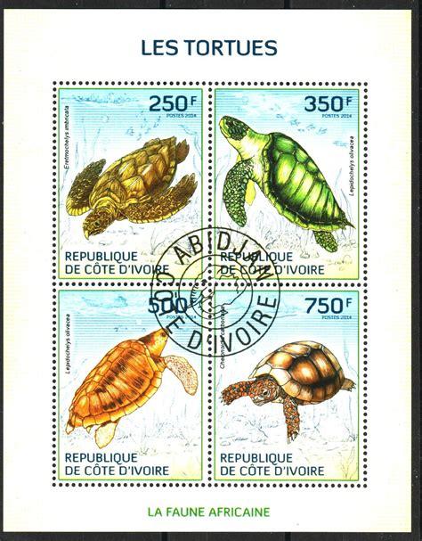 Mini Sheet Cto Msb011 turtles mini sheet of 4 sts cto 2014 ivory coast