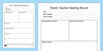 parent meeting report template parent meeting template parents evening