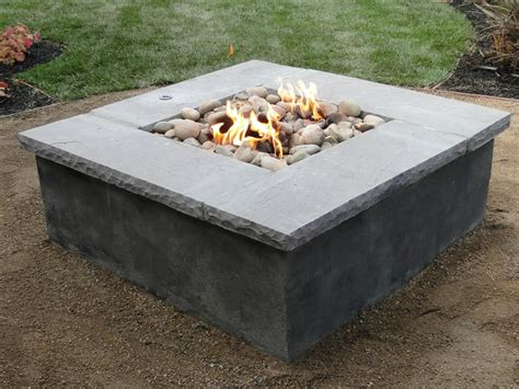 pit liner square fireplace design ideas