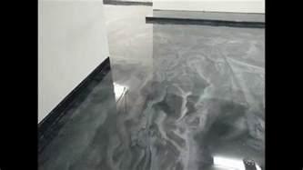 V Flooring by Green Fox Epoxy Silver Metalic Epoxy Garage Floor Houston