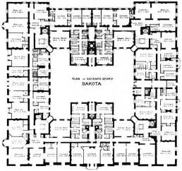 the floor plan of a new building is shown the dakota building house crazy