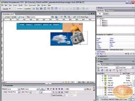 tutorial dreamweaver css designing with divs layers css styles dreamweaver
