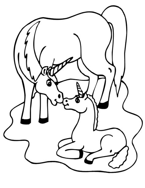 unicorn coloring page unicorn her baby