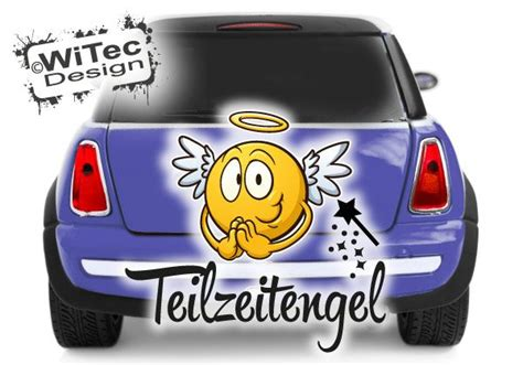 Aufkleber F Rs Auto Angeln by Autoaufkleber Engel Teilzeitengel Auto Aufkleber Angel