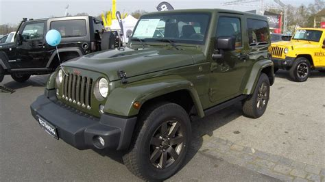 green jeep 2017 jeep wrangler sarge green colour trail seventy