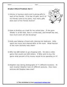 6th grade math word problems free download or printable math