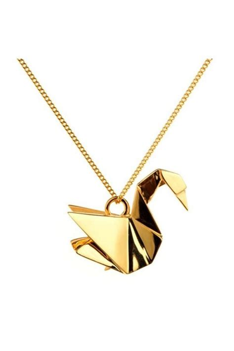 Origami Necklaces Pendants - origami swan origami jewellery necklaces quot origami swan