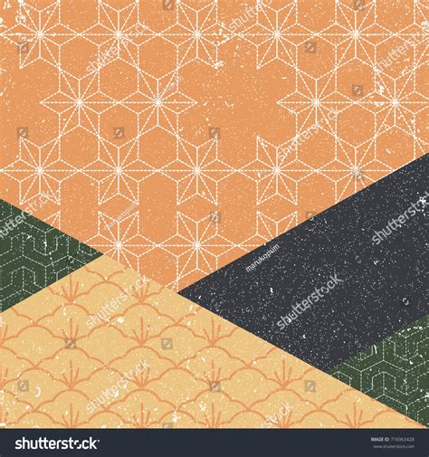 svg pattern background cover japanese pattern vector geometric background autumn stock