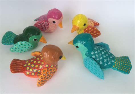 How To Make A Paper Mache Bird - how to make paper mache birds alison kolesar
