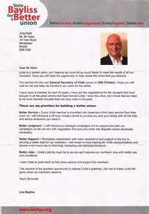 Charity Persuasive Letter unite election has les bayliss been sending out mass spam ren 233