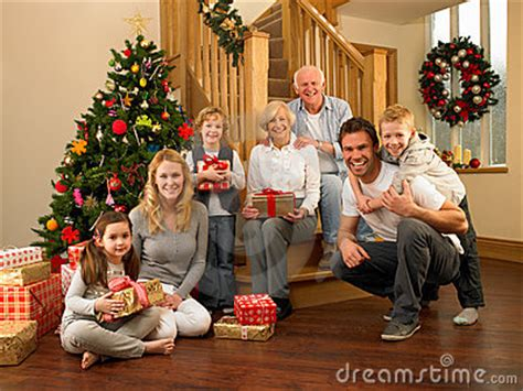 family christmas tree jarrettsville family at home around tree stock photography image 20461502