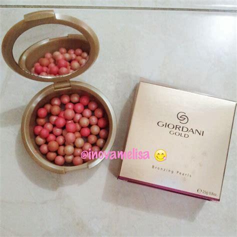 bagaimana cara menggunakan bronzing pearl blush on bulat