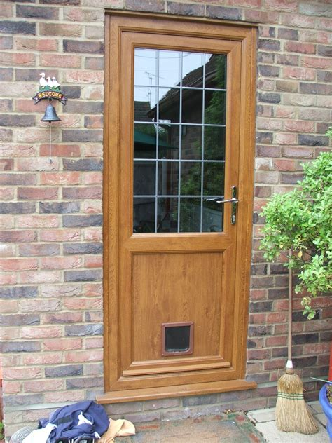 glazed back door with cat flap home interior