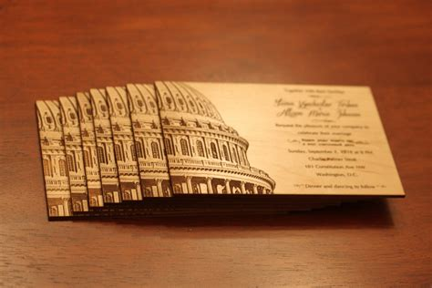 wedding invitation washington dc laser engraved maple wedding invitations in a flash laser laser engraving boutique