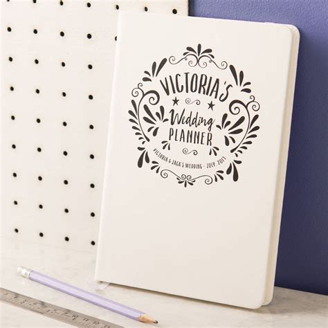 Wedding Planner Notebook by Personalised Wedding Planner Notebook By Oakdene Designs