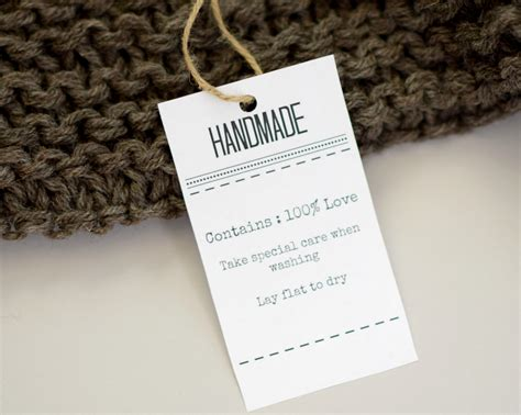 Handmade Labels For Crochet - gift labels and tags for handmade items in a stitch
