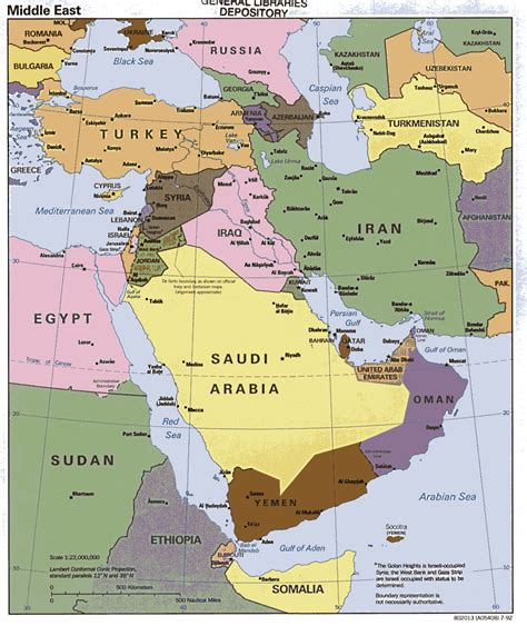 Maps Middle East by Medio Oriente Contempor 225 Neo Map Collection Middle East Maps